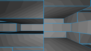 Grey Horizontal Depth Grid