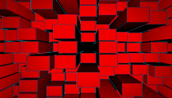 Red Depth Grid Explode
